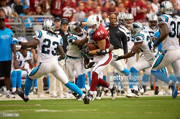 Arizona Cardinals Todd Heap in action vs Carolina Panthers at University of Phoenix Stadium Glendale AZ CREDIT John W McDonough