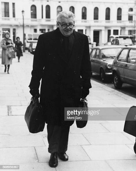 Football Association Chairman Sir Harold Thompson arriving at the FA disciplinary inquiry against England manager Don Revie London December 18th 1978