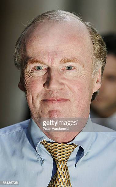 Football Association Chief David Davies arrives at the Central London Employment Tribunal June 23 2005 in London England Davies is a witness in the...
