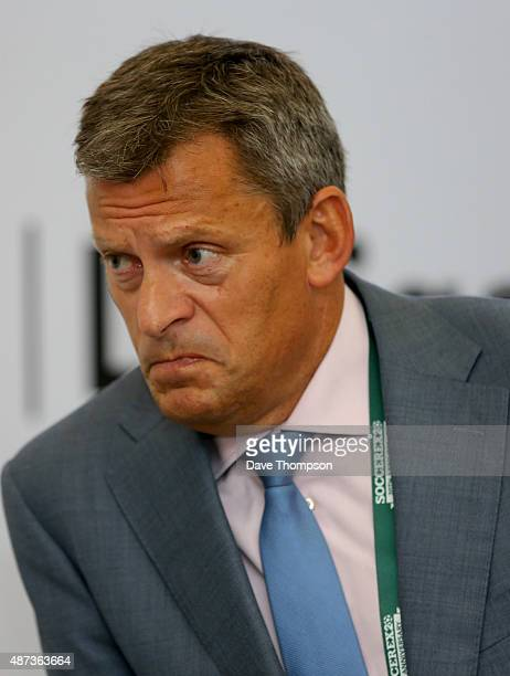 Football Association Chief Executive Martin Glenn during day five of the Soccerex Global Convention at Manchester Central on September 9 2015 in...