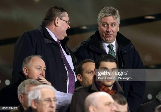 Football Association of Ireland CEO John Delaney at the international friendly at The Aviva Stadium Dublin