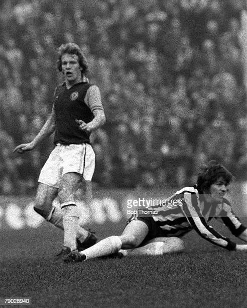 Football Aston Villa v Newcastle United Newcastle's Malcolm MacDonald on the ground after a challenge from a Villa defender
