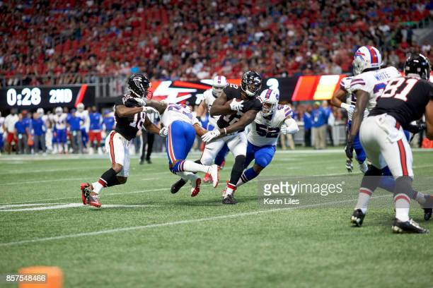 Atlanta Falcons Mohamed Sanu in action vs Buffalo Bills at MercedesBenz Stadium Atlanta GA CREDIT Kevin Liles