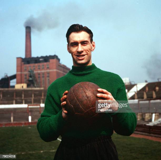 Football August 1957 A portrait of Manchester United goalkeeper Ray Wood at Old Trafford