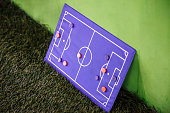 Football Board for tactics on a green background