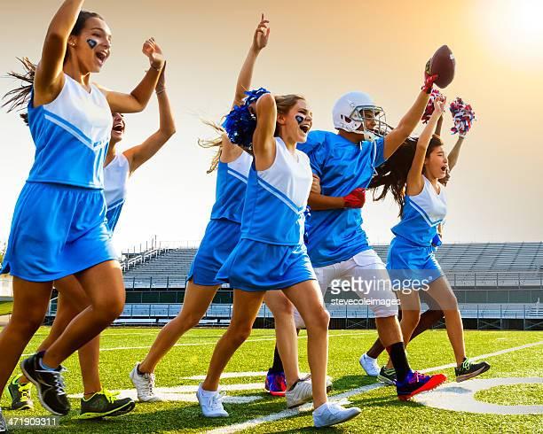 Football Cheerleaders & Player