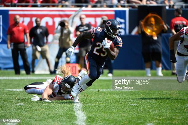 Chicago Bears Tarik Cohen in action rushing vs Atlanta Falcons at Soldier Field Chicago IL CREDIT Greg Nelson