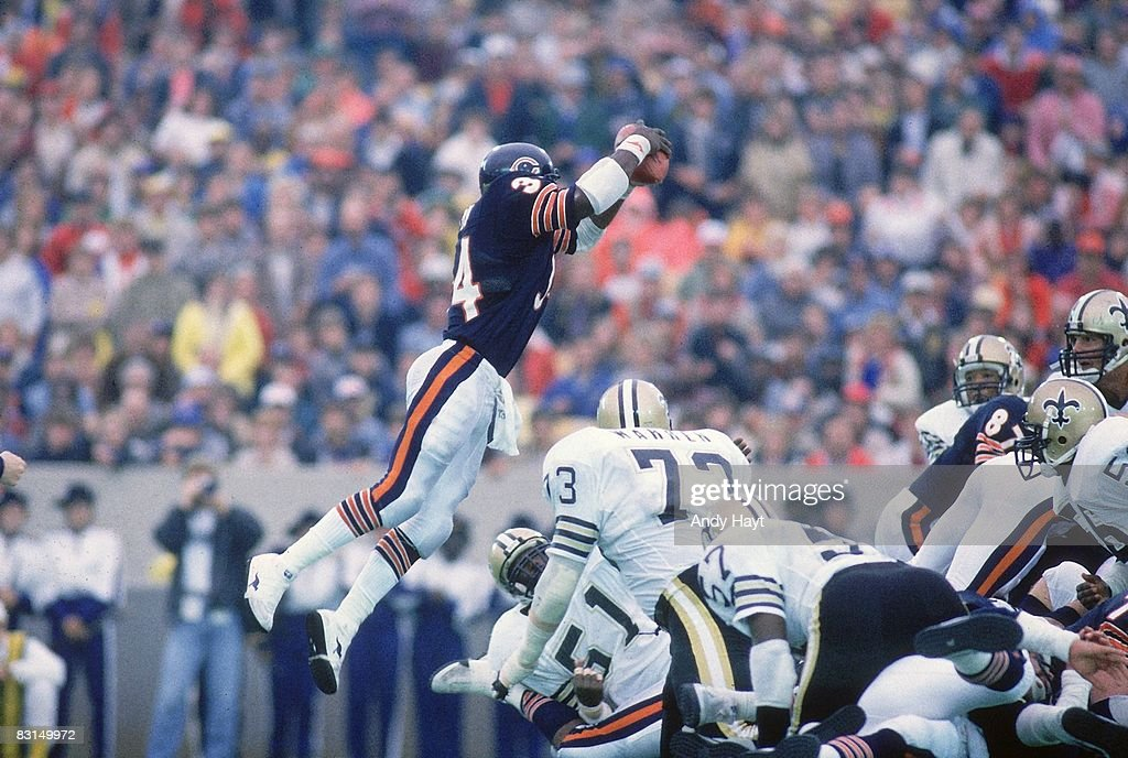 The Top 5 Running Backs In Chicago Bears HistoryWalter Payton Jumping Touchdown