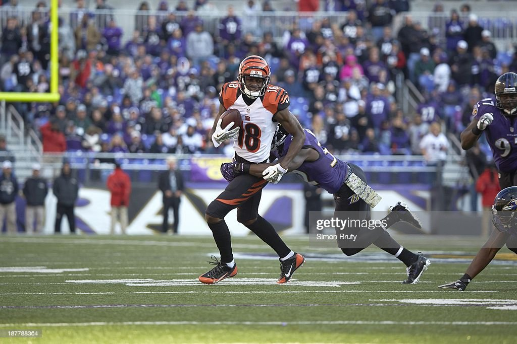 Cincinnati Bengals A.J. Green (18) in action vs Baltimore Ravens at M&T Bank Stadium. Simon Bruty F23 )
