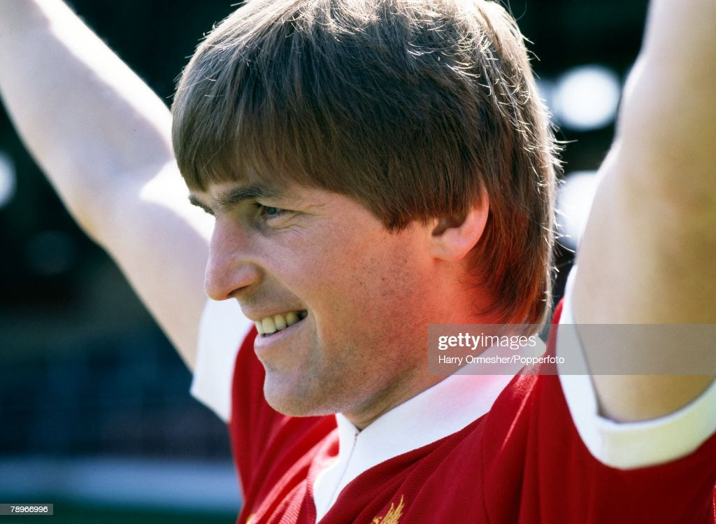 Football, Circa 1980, Liverpool FC player Kenny Dalglish poses for the cameras