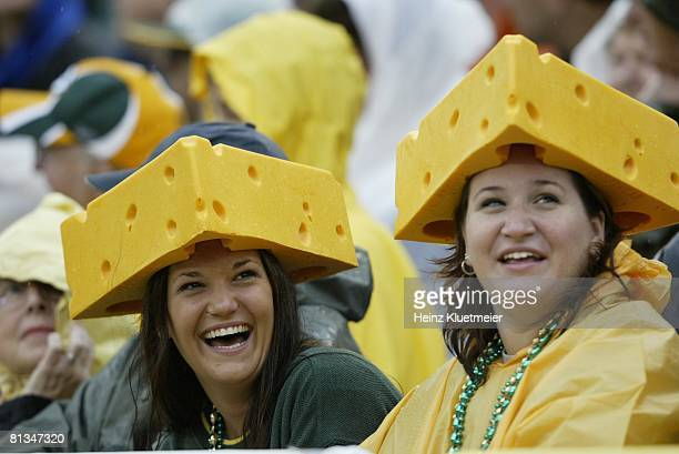 Football Closeup of Green Bay Packers fans during game vs Detroit Lions Green Bay WI 9/14/2003