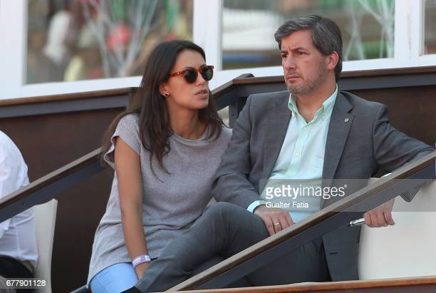 Football Club Sporting CP's President Bruno de Carvalho with girlfriend during the match between Gastao Elias from Portugal and Nicolas Almagro from...