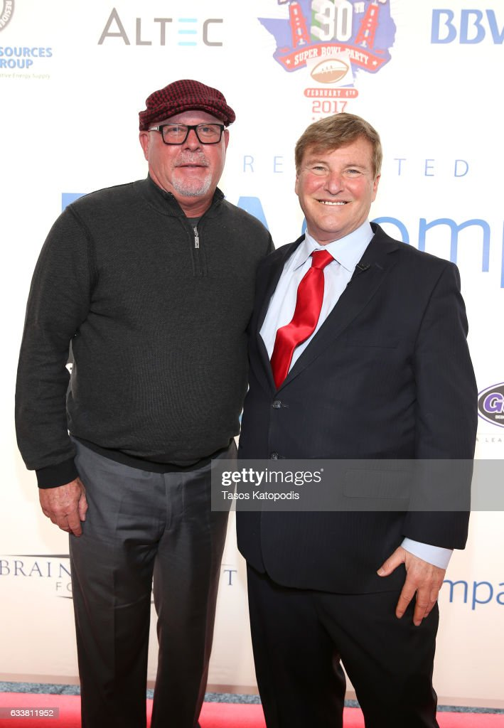 NFL football coach Bruce Arians and sports agent/event host Leigh Steinberg attend the 30th Annual Leigh Steinberg Super Bowl Party on February 4, 2017 in Houston, Texas.