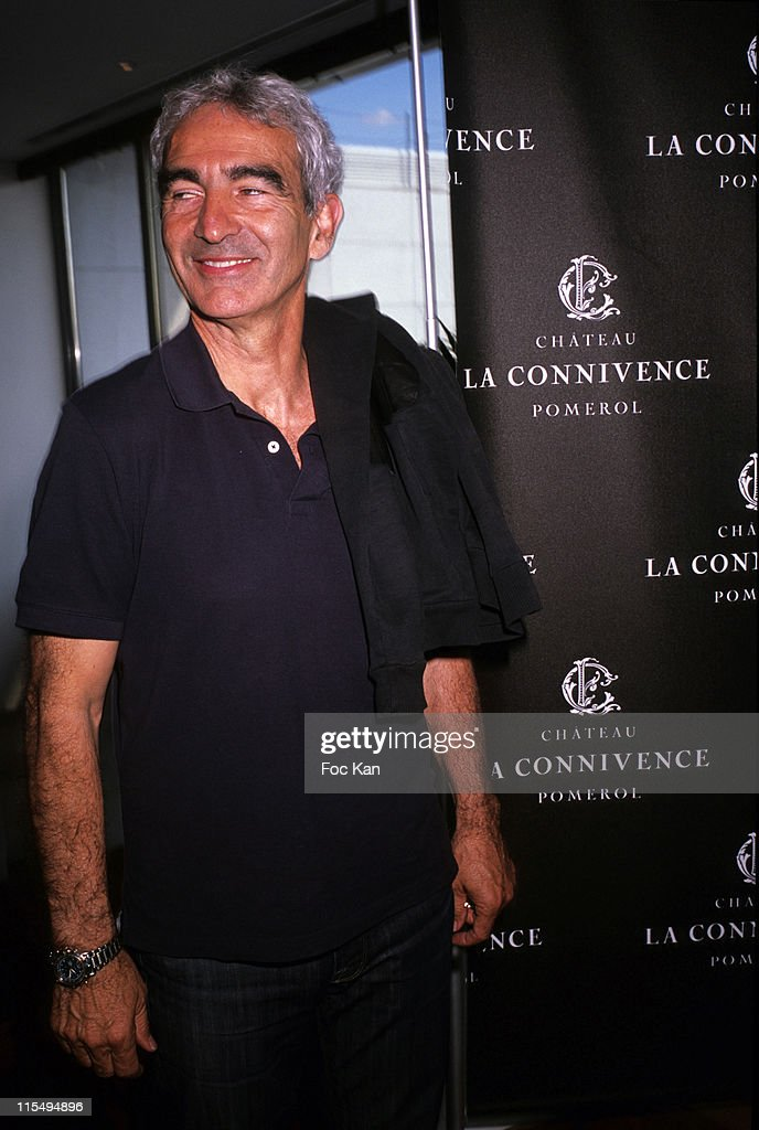 Football coach Raymond Domenech attends the Chateau Connivence 2008 Pomerol Wine Launch Cocktail at the Terrasse M6 on June 11, 2009 in Paris, France.