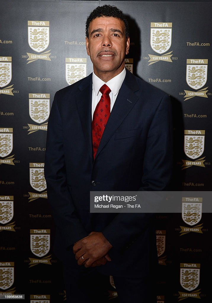 Football commentator Chris Kamara attends the official launch to mark the FA's 150th Anniversary Year at the Grand Connaught Rooms on January 16, 2013 in London, England.