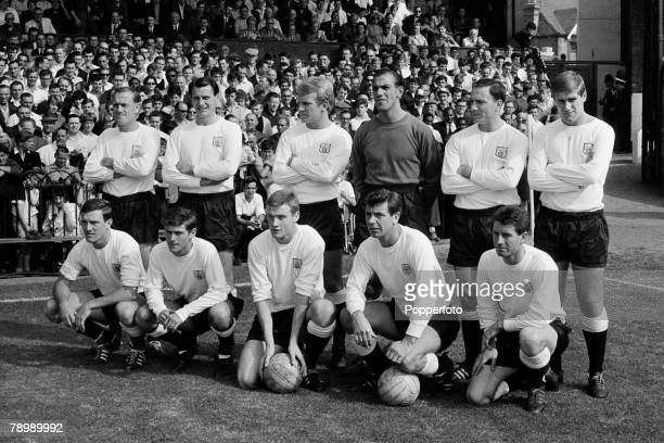 Football Craven Cottage London England 5th September 1964 Division 1 Fulham v Manchester United Fulham Team group Including Jim Langley Bobby Robson...