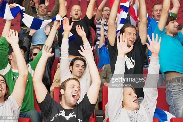 Football crowd cheering