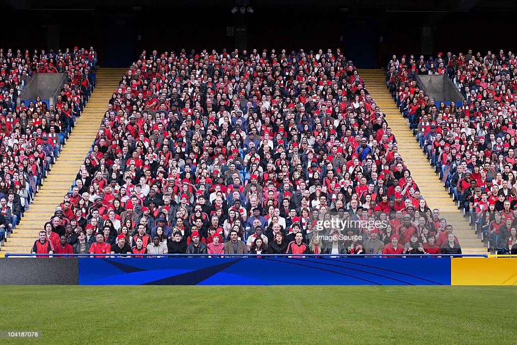 Football crowd in stadium : Stock Photo