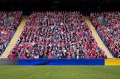 Football crowd in stadium