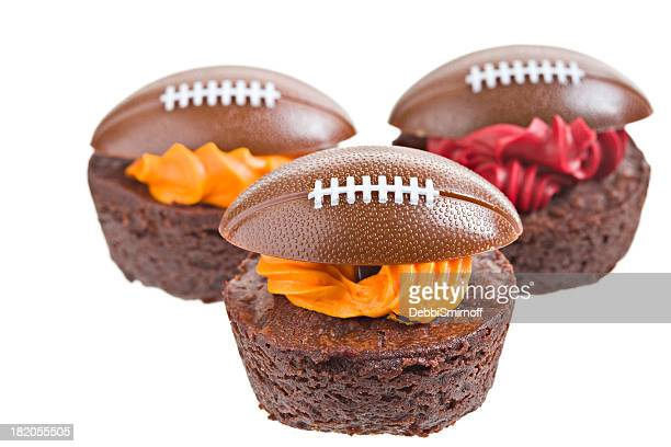 Football Decorated Brownie Bites