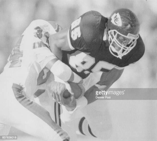 Football Denver Broncos 1989 November Games Special to the Denver Post Broncos Tyrone Braxton strips ball from Kansas City Jonathan Hayes for a turn...