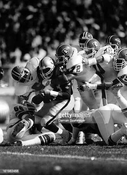 SEP 25 1983 SEP 26 1983 Football Denver Broncos Kenny king discovers effectiveness of Denver Defense the hard way