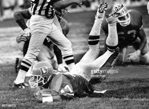 Football Denver Broncos Preseason Game 3 Wilhite skids into the end zone Credit The Denver Post