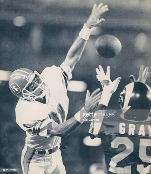 1987 AUG 30 1987 Football Denver Broncos Preseason Game 4 Special Transmission for the Denver Post Jerry Cleveland Auth ED Anaheim Calif Aug 29...