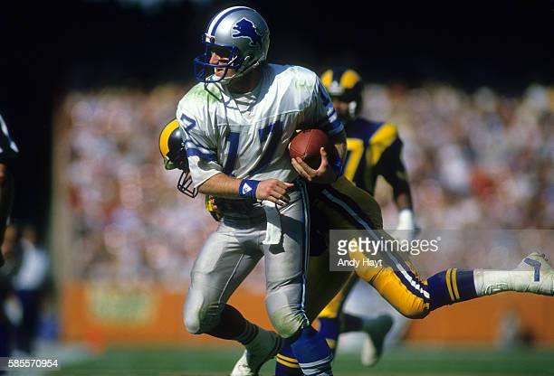 Detroit Lions QB Eric Hipple in action vs Los Angeles Rams at Anaheim Stadium Anaheim CA CREDIT Andy Hayt
