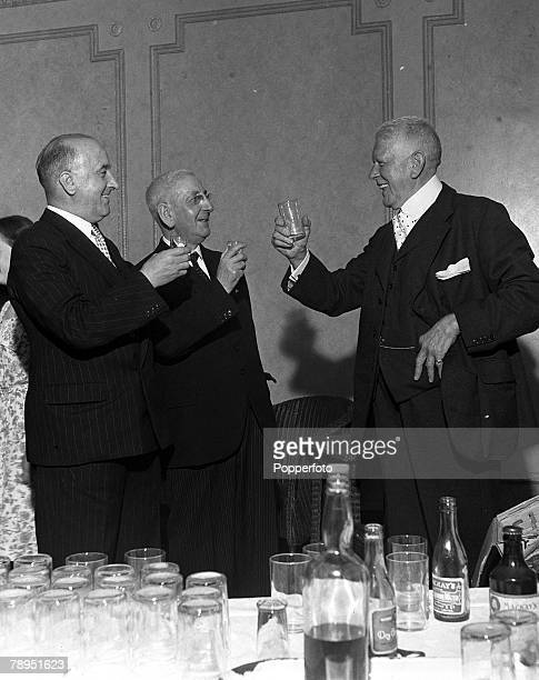 Football England The Chairmen of the big three clubs in the North East are pictured making a toast to each others health LR Middlesborough Football...