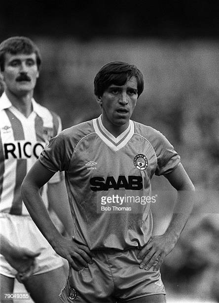 Football English League Division One 1st September 1982 Manchester City 1 v Stoke City 0 Manchester City's Kevin Reeves