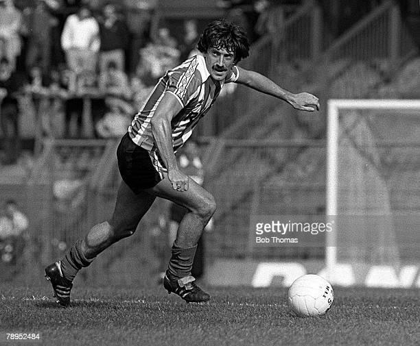 Football English League Division One 4th September 1982 Birmingham City 1 v Stoke City 4 Stoke City's Peter Hampton on the ball