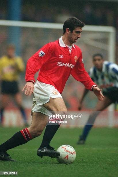 Football English Premier League Sheffield Wednesday 3 v Manchester United 3 26th December 1992 United's Eric Cantona