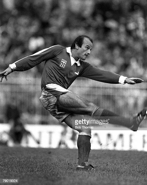 Football European Championship Qualifier 16th November 1982 Salonika Greece Greece 0 v England 3 Greece's George Firos