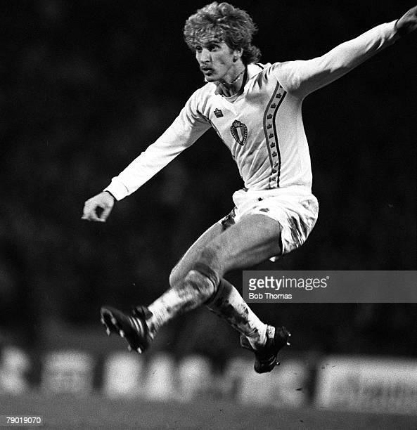 Football European Championship Qualifier Brussels 15th December 1982 Belgium 3 v Scotland 2 Belgium's Ludo Coeck