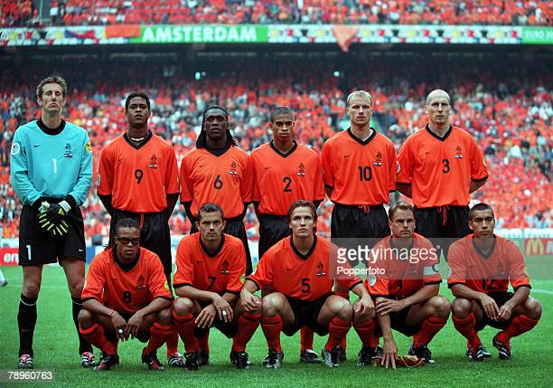 Football European Championships Amsterdam Arena Holland Holland 1 v Czech Republic 0 11th June 2000 The Dutch team group before the match They are...