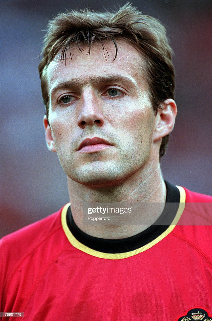 Football, European Championships (EURO 2000), King Baudouin Stadium, Brussels, Belgium, Italy 2 v Belgium 0, 14th June, 2000, A portrait of Belgium+s <a gi-track='captionPersonalityLinkClicked' href=/galleries/search?phrase=Marc+Wilmots&family=editorial&specificpeople=1016207 ng-click='$event.stopPropagation()'>Marc Wilmots</a>