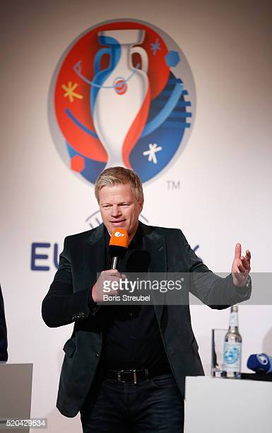 ZDF football expert Oliver Kahn attends the ZDF UEFA Euro 2016 press conference at Radialsystem on April 11 2016 in Berlin Germany