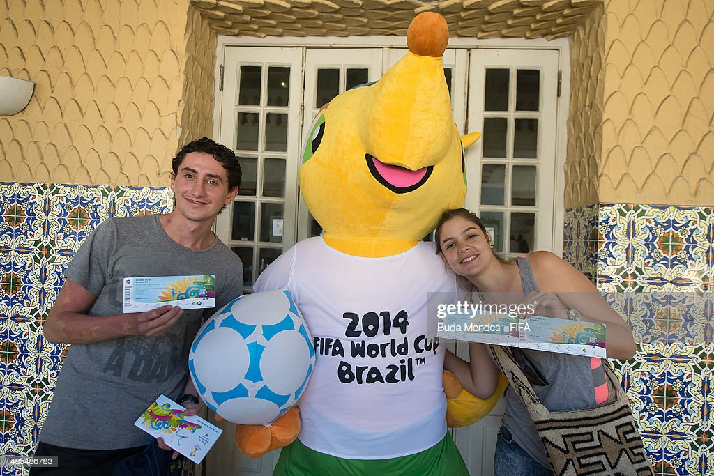 Football fans purchase tickets during FIFA venue ticketing centre opening for the 2014 FIFA World Cup Brazil at Casarao General Severiano on April 18, 2014 in Rio de Janeiro, Brazil.