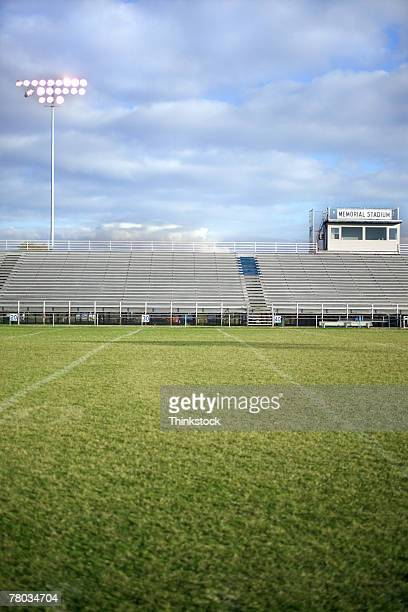 Football field and bleachers