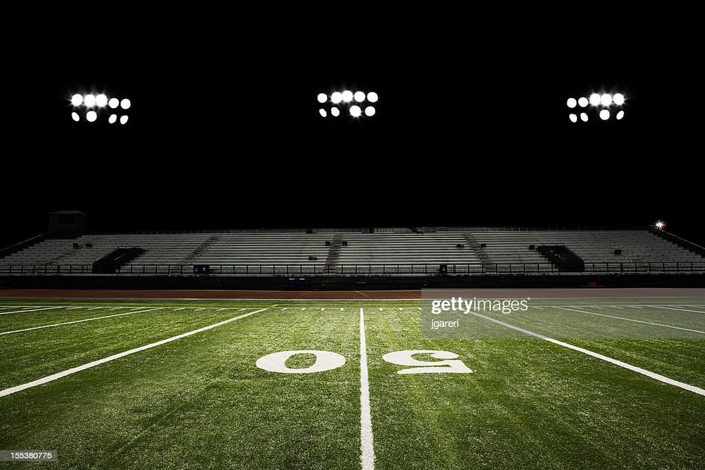 Football Field At Night Stock Photo | Getty Images