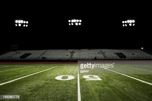 Football Field at Night : Stock Photo