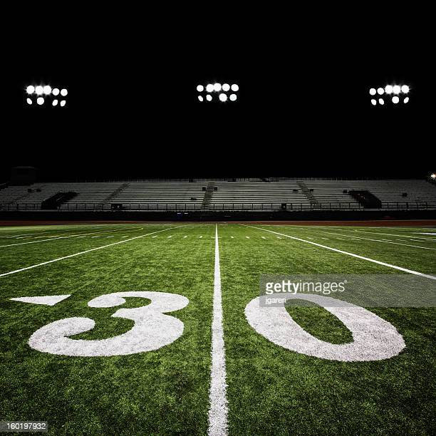 Football Stadium Night Lights: American Football Pitch Stock Photos And Pictures