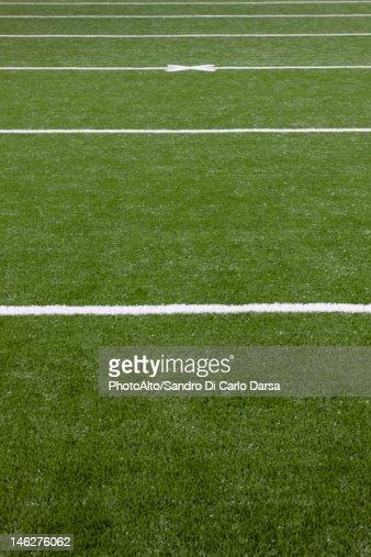 Football field, close-up