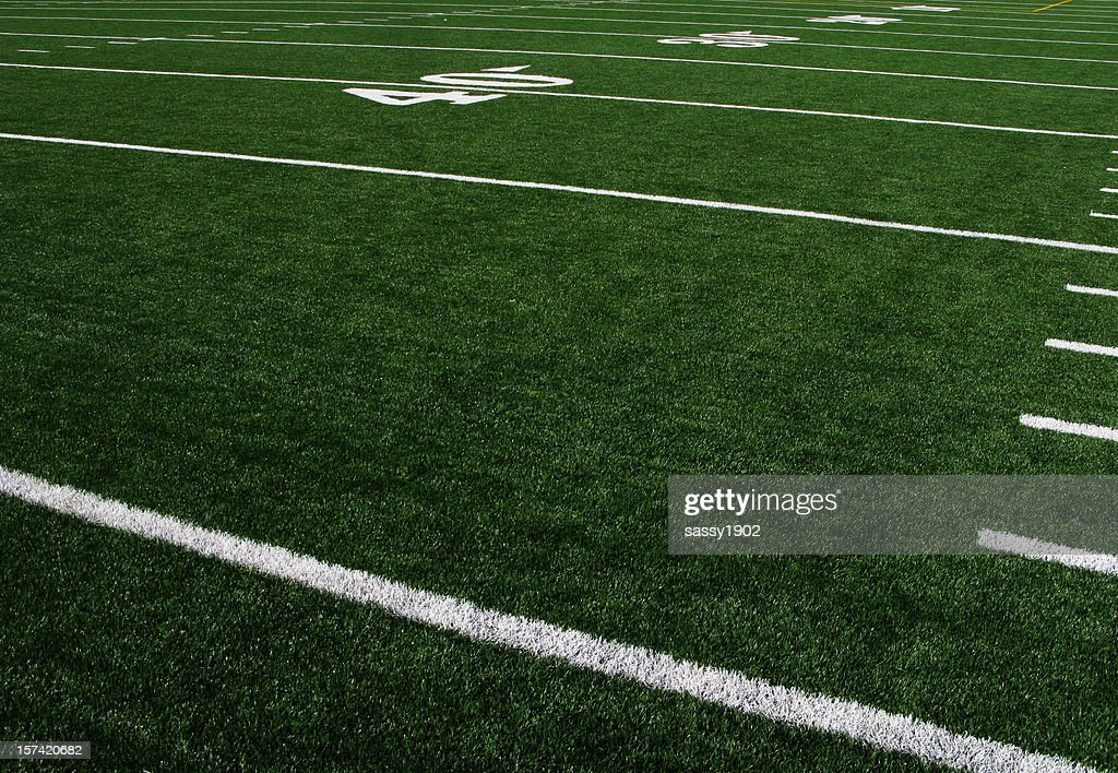 Football Field Forty Yardline Artificial Turf