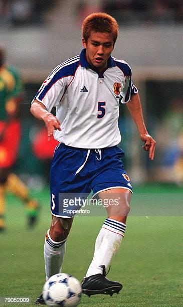 Football FIFA Confederations Cup 2nd June 2001 Niigata Japan Cameroon 0 v Japan 2 Japan's Junichi Inamoto