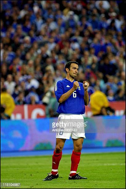 Football friendly game France Belgium at the Stade de France in Saint Denis France on May 18 2002 Youri Djorkaeff