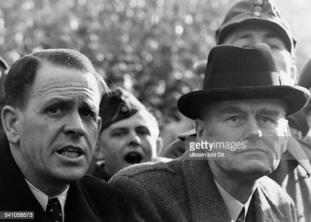 Football friendly game in the Olympic Stadium of Berlin Germany vs Spain 11 German national team manager HERBERGER April 12 1942