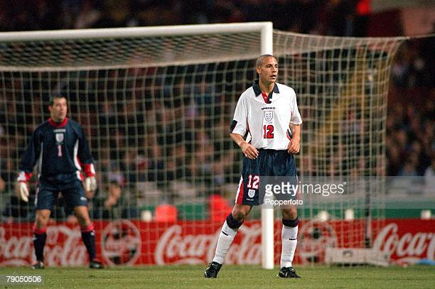 Football Friendly International 15th November Wembley England 2 v Cameroon 0 England's Rio Ferdinand at the time the youngest player to play in the...