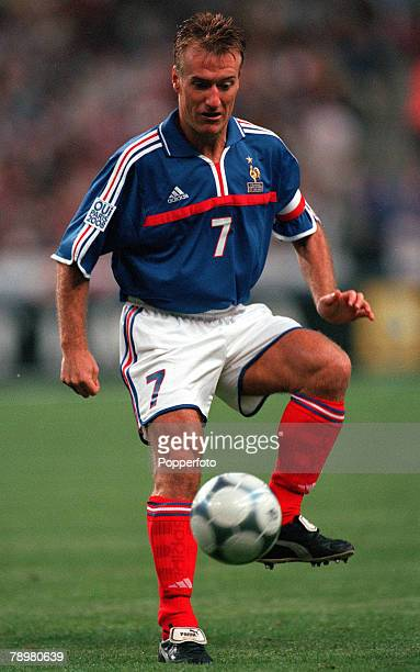 Football Friendly International Stade de France Paris France 2nd September 2000 France 1 v England 1 French Captain Didier Deschamps playing in his...